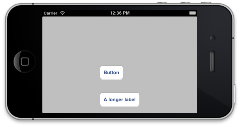 Left aligned buttons landscape