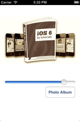 Filtering a photo album image