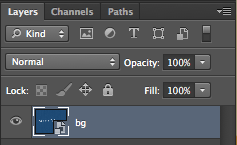 Renaming a layer in Photoshop