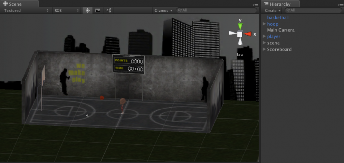 Laying out the scene in Unity