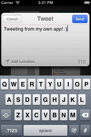 Tweeting with the iOS 6 social framework