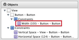 Width constraint document outline