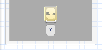 Width constraint on truncated button