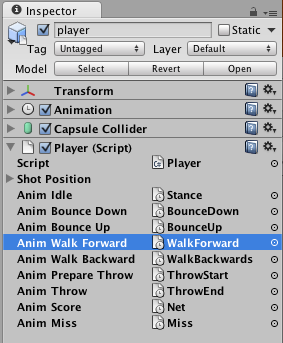 Setting animation properties in Unity