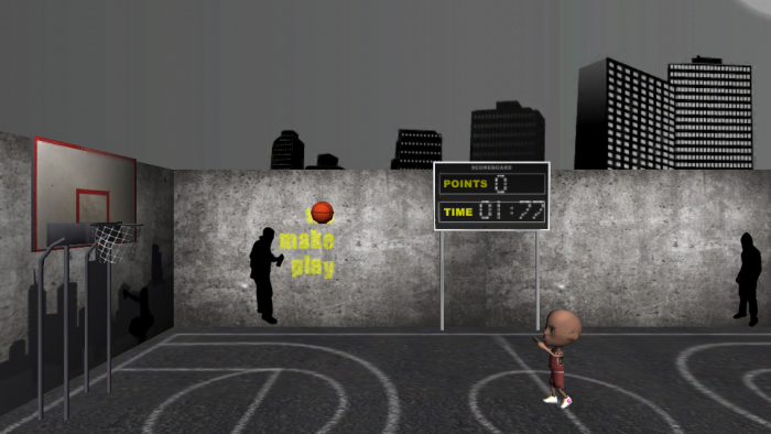 The game running on an iPhone device!