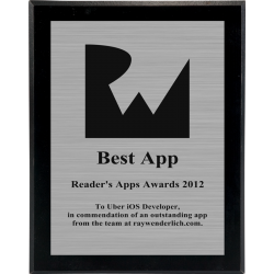 Reader's Apps Awards for 2012!