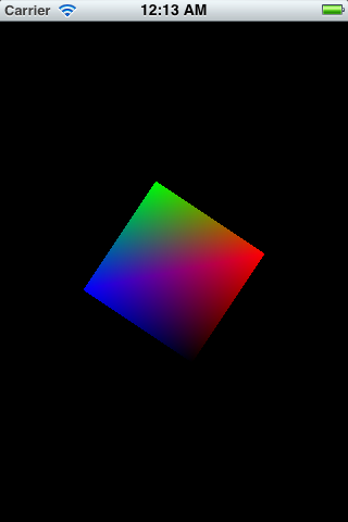 A rotating square with OpenGL ES 2.0 and GLKit