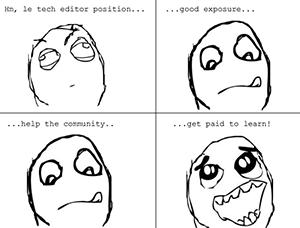 Wanna be a tech editor?