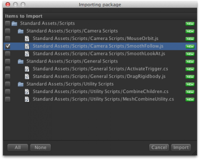 Importing the Smooth Follow script.