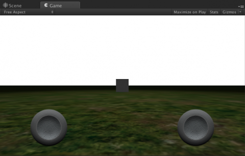 Game View after grass added.