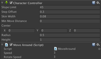 Move Around script added.
