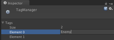 Adding an enemy tag.