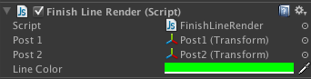 Finish Line script variables assigned.