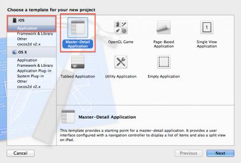 Select Master-Detail Application