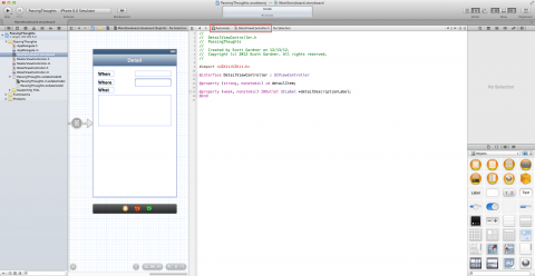 Xcode workspace in Assistant Editor mode