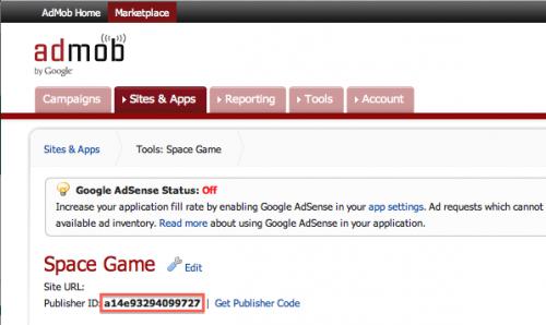 Getting AdMob Publisher ID