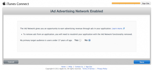 Selecting age group for ads in iTunes Connect
