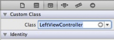 Changing Custom Class for LeftViewController