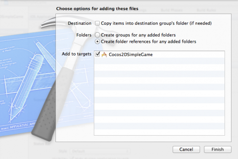 Adding folders to your Xcode project