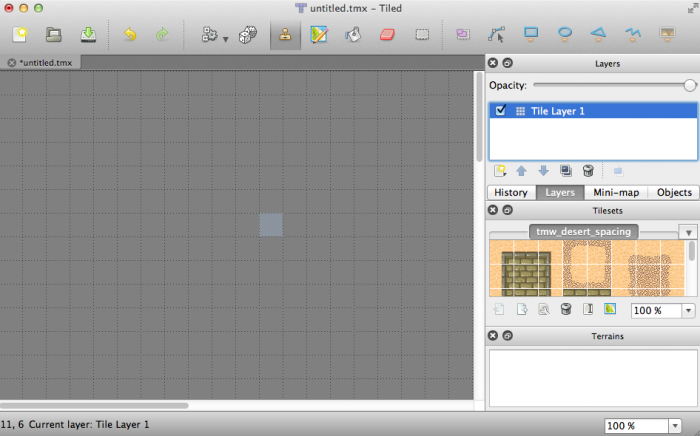 Using the Stamp Tool in Tiled