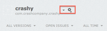 App settings on Crashlytics