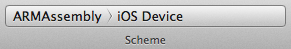 02 - Select iOS Device scheme