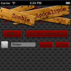 Learn how to create a to-do app to survive the zombie apocalypse in this PhoneGap tutorial!