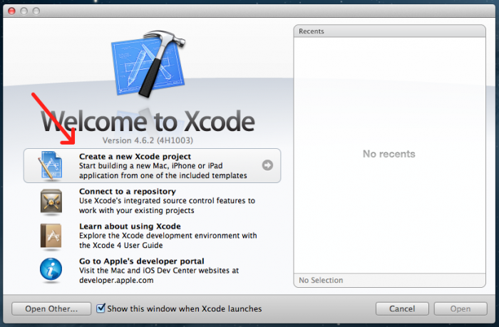Welcome to Xcode Selected