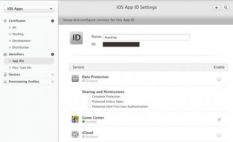 App ID Settings
