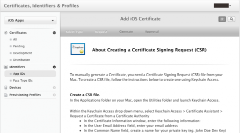 Add iOS Certificate