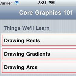 Core Graphics Tutorial: Lines, Rectangles, and Gradients