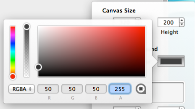 choose canvas color in PaintCode