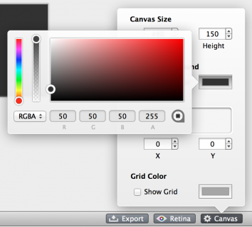 Canvas color in PaintCode