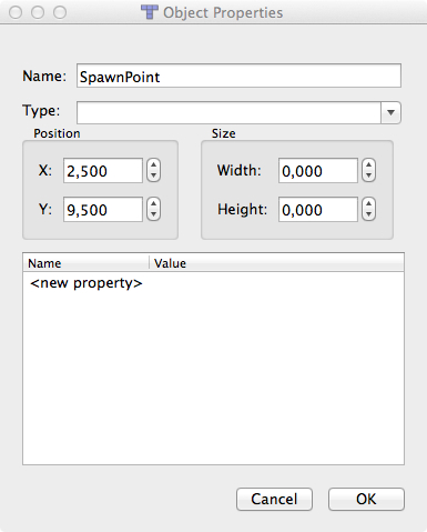Spawn Point properties