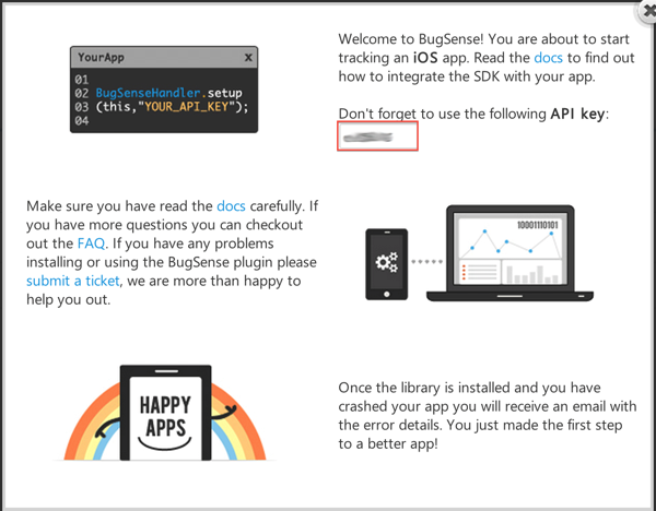 Bugsense API Key