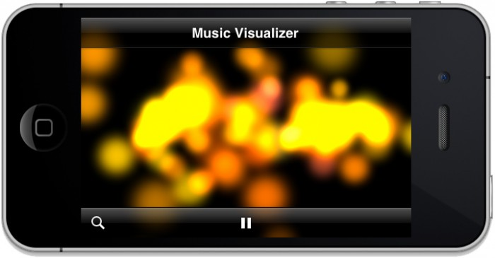 Music Visualizer with Dancing Particles
