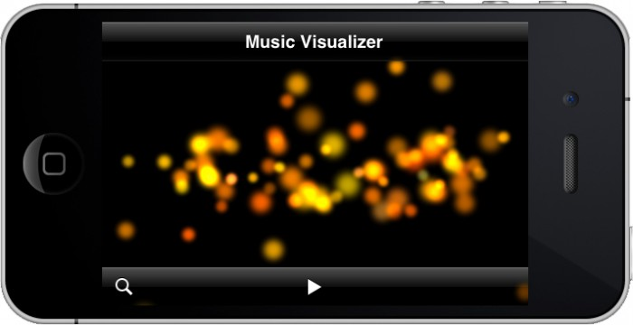 Music Visualizer Running with Particles