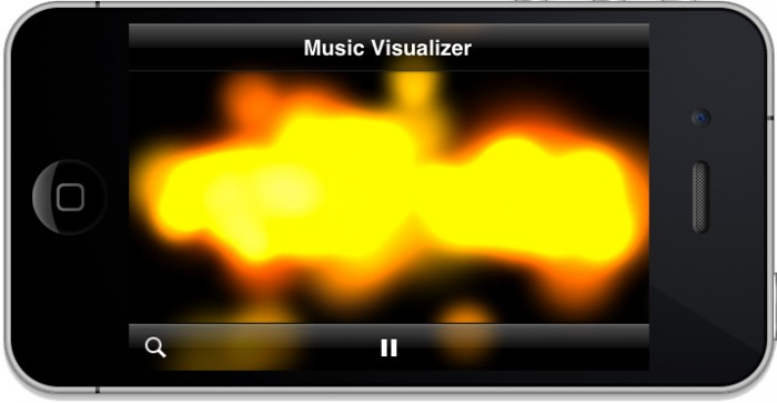 Music Visualizer with Large Particles