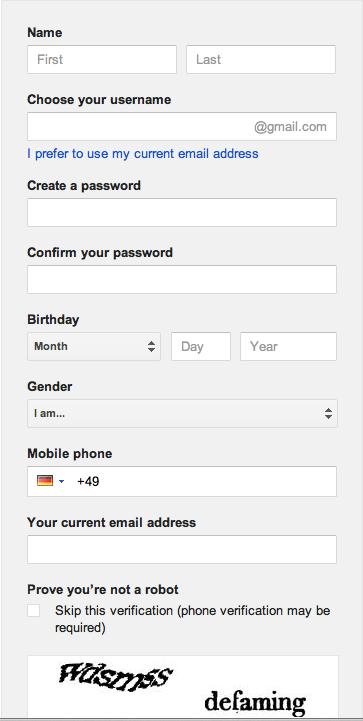 Google Register