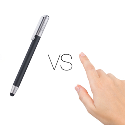 Finger vs Stylus