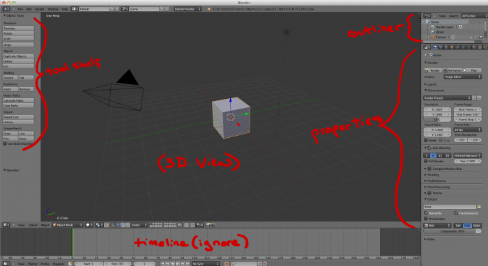 Blender layout