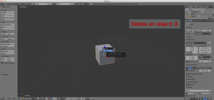 Blender delete an object