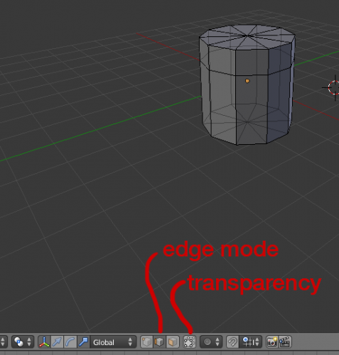 Blender edge mode