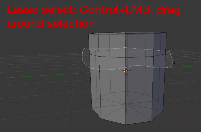 Blender lasso select