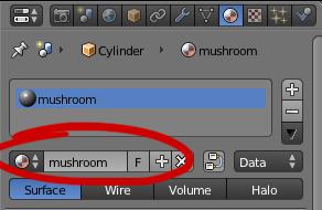 Blender materials tab