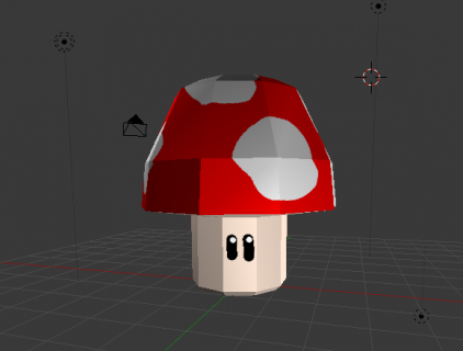 Blender how to create an object mushroom