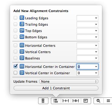 Align horizontal center