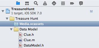 Asset catalog in project navigator