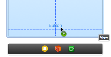 Drag button to bottom center