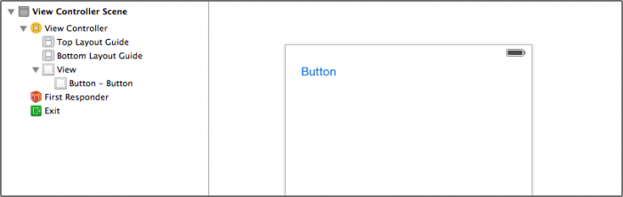 There are no constraints on the button